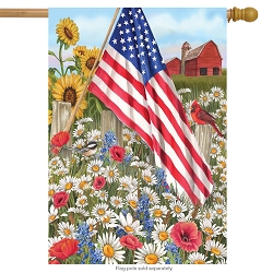Briarwood Lane America The Beautiful House Flag