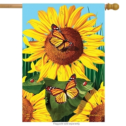 Briarwood Lane Sunflower Field House Flag