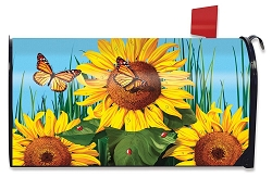 Briarwood Lane Sunflower Field Mailbox Cover