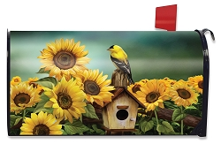 Briarwood Lane Goldfinch and Sunflowers Mailbox Cover