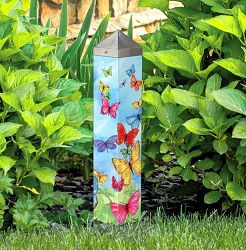 20 Inch Art Pole 4x4 Brilliant Butterflies