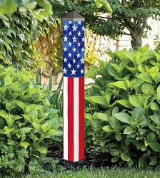 40 Inch Art Pole 4x4 Stars and Stripes Forever