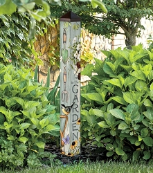 40 Inch Art Pole 4x4 Farmhouse Garden