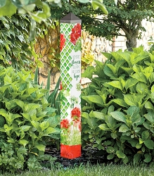 40 Inch Art Pole 4x4 Where Flowers Bloom