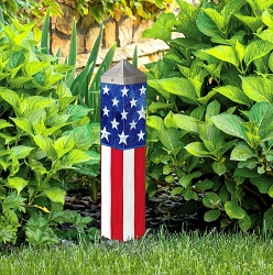 20 Inch Art Pole 4x4 Stars and Stripes Forever