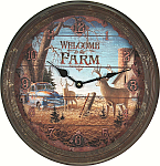 Vintage Tin Wall Clocks
