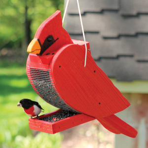 Amish Hand-Made Bird Shaped Feeders & Houses