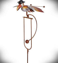 Rocking Bird with Derby Kinetic Garden Stake 61