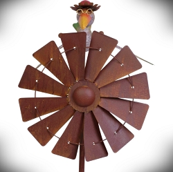 Rocking Lady Bird Windmill Kinetic Garden Stake 60