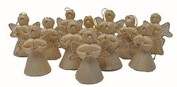 Abaca Baby Angel Ornament Plain 2