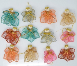 Abaca Angel Cutie Ornament Assorted Rotex 2
