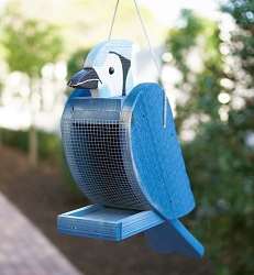 Amish Hand-Made Shaped Bird Feeder Blue Jay