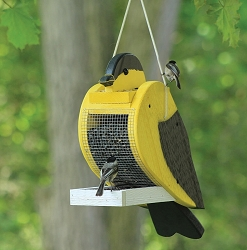 Amish Hand-Made Shaped Bird Feeder Goldfinch