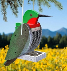Amish Hand-Made Shaped Bird Feeder Hummingbird