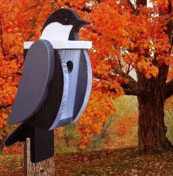 Amish Hand-Made Shaped Bird House Chickadee