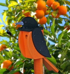 Amish Hand-Made Shaped Bird House Oriole