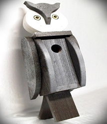 Amish Hand-Made Shaped Bird House Owl