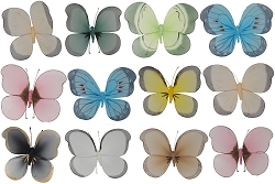Brushart Large Nylon Butterfly Assortment Set of 12