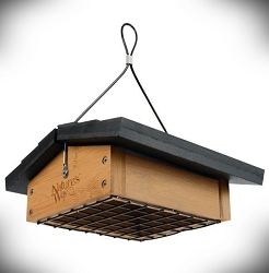Bamboo Upside Down Suet Feeder