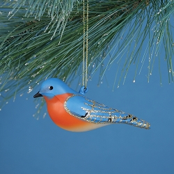 Cobane Studio Bluebird Blown Glass Ornament