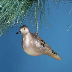 Cobane Studio Mourning Dove Blown Glass Ornament