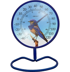 Decor Convertible Small 4 Inch Dial Thermometer Bluebird