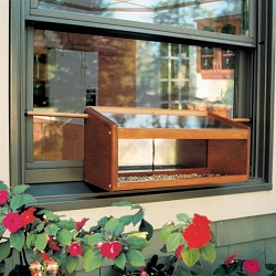 Conservation Windowsill Bird Feeder with Mirror