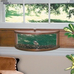 Conservation Panoramic In-House Window Feeder with Mirror