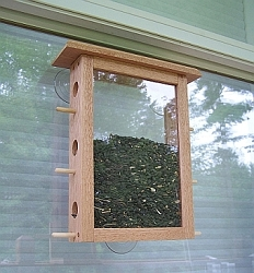 Conservation See-Through Six Port Window Feeder
