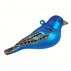 Cobane Studio Indigo Bunting Blown Glass Ornament