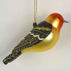 Cobane Studio Western Tanager Blown Glass Ornament