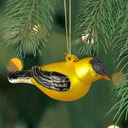 Cobane Studio Goldfinch Blown Glass Ornament