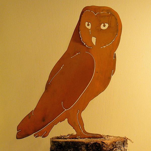 Elegant Garden Design Bird Silhouette Barn Owl