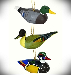 Antique Duck Decoy Ornament Collection Set of 3