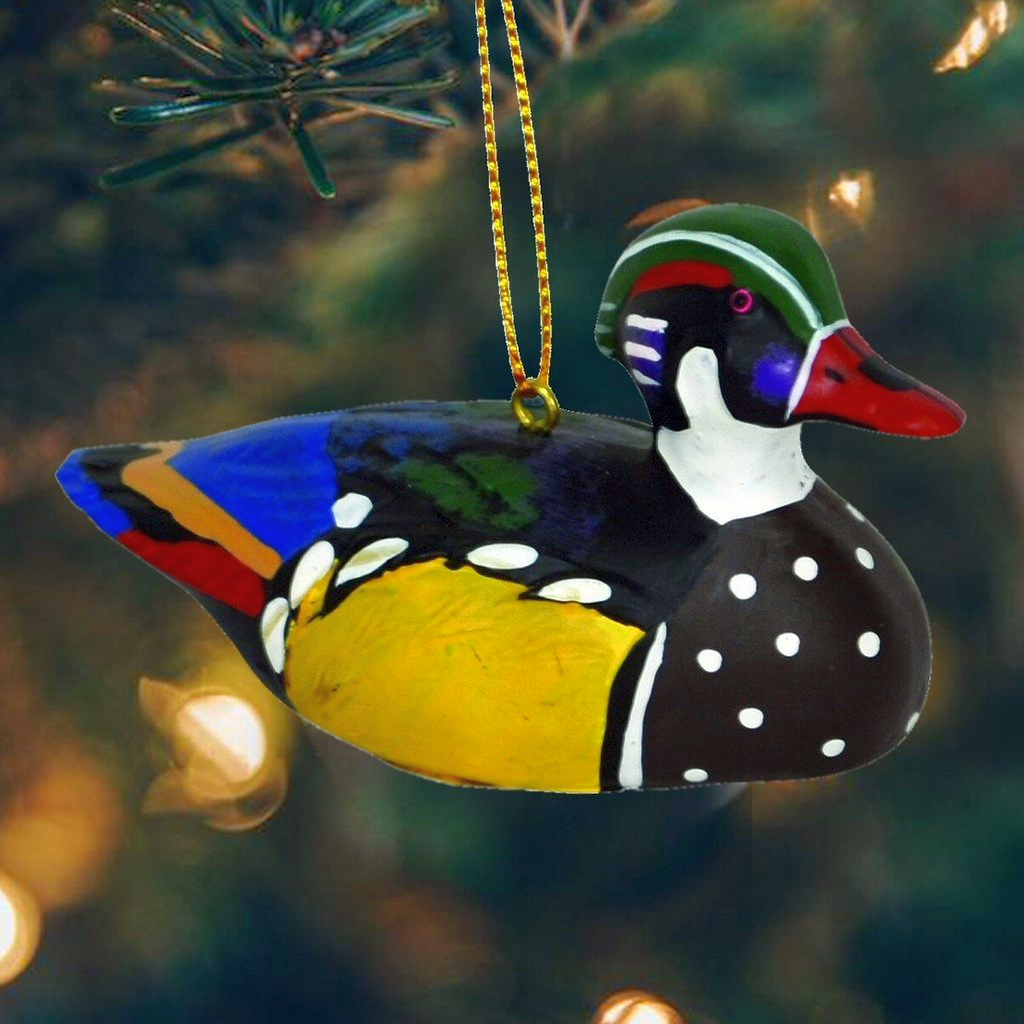Antique Duck Decoy Ornament Collection Set Of 3 Handcrafted Life Like Hanging Duck Decoy Ornaments