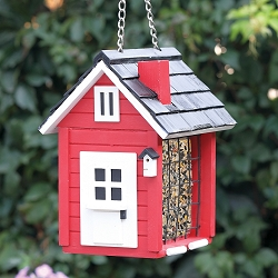 Classic Cottage Suet Feeder Red