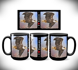 I Love Eagles Coffee Mug 15 oz. Set of 2