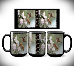 Rufous Hummingbird Coffee Mug 15 oz. Set of 2
