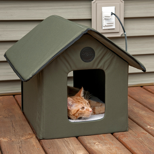 Excellent Outdoor Heated Kitty House Download Free Architecture Designs Rallybritishbridgeorg