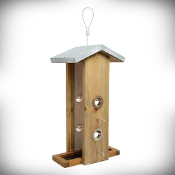Rustic Series Galvanized Weathered Vertical Feeder