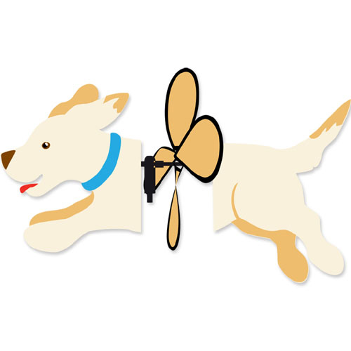 Petite Yellow Lab Wind Spinner