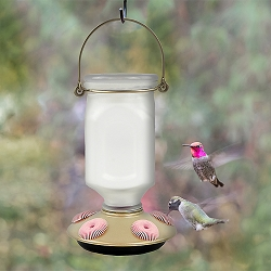 Sun-Kissed Top-Fill Glass Hummingbird Feeder