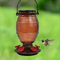 Prohibition Top-Fill Glass Hummingbird Feeder