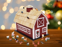 Red Christmas Barn Advent Calendar