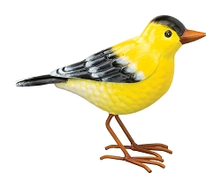 3-D Metal Garden Decor Sculpture Goldfinch