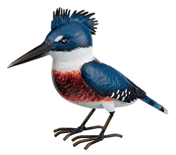 3-D Metal Garden Decor Sculpture Kingfisher