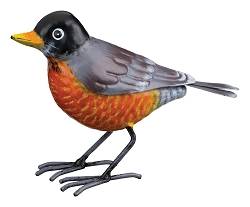 3-D Metal Garden Decor Sculpture Robin