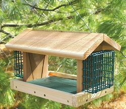 Songbird Cedar Large Plantation Feeder w/Suet Cages