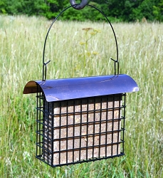 Deluxe Large Copper Top Suet Cake Cage Feeder