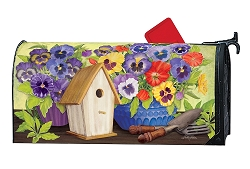 Pretty Pansy and Birdhouse MailWrap